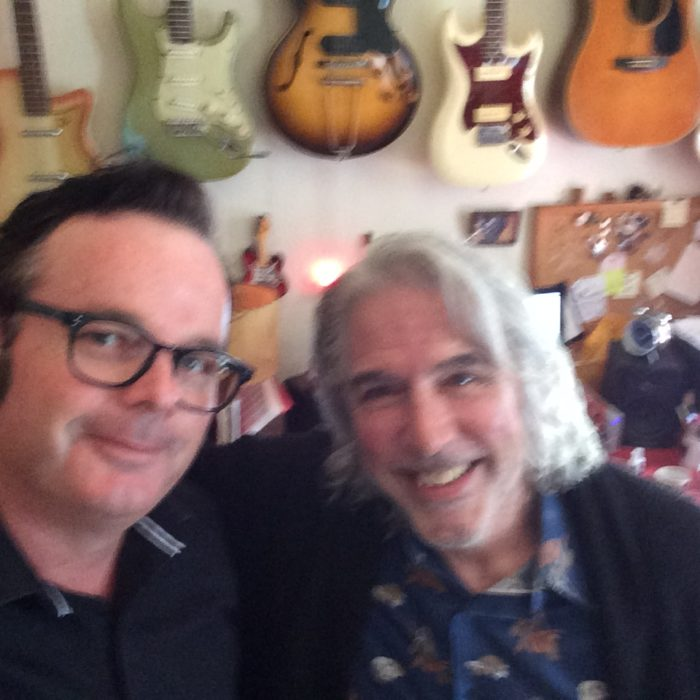 With my guitar teacher, Telecaster Master, Jim Campilongo in Brooklyn, NYC