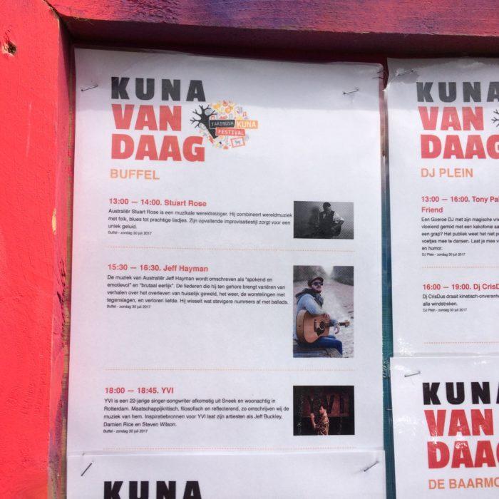 Taribush Kuna Festival, Netherlands - when am I on?